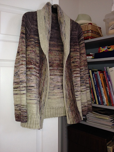 Connie finished her Comfort Fade Cardi by Andrea Mowry! Yarn is Koigu Kersti