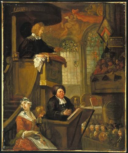 The sleeping congregation Hogarth (1)