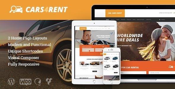 Cars4Rent v1.2.2 - Car Rental & Taxi Service Theme