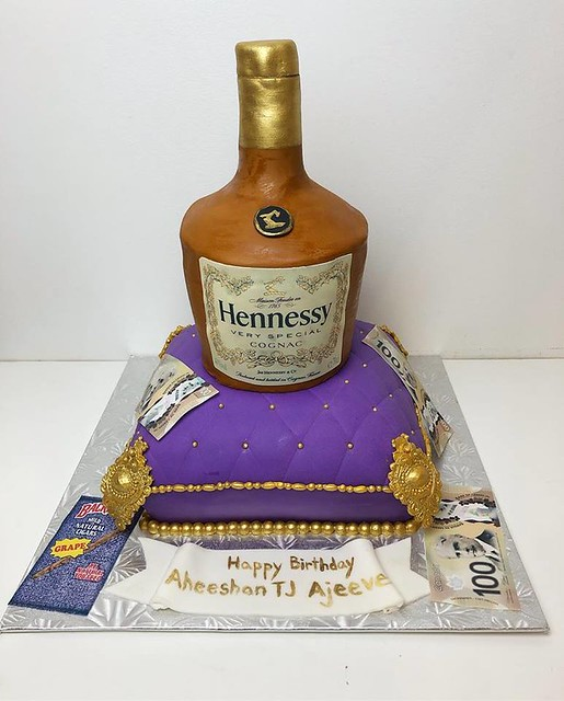 Hennessy Bottle Cake by KennethCakes