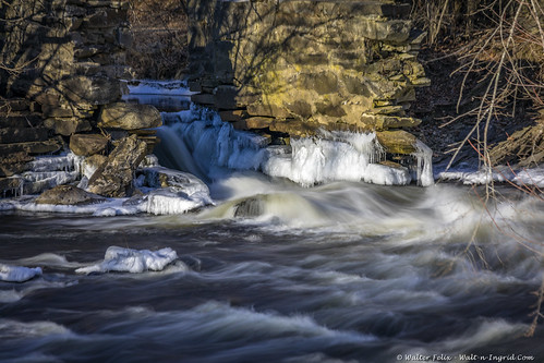 landscape winter waterfall ice quinebaug connecticut unitedstatesofamerica us