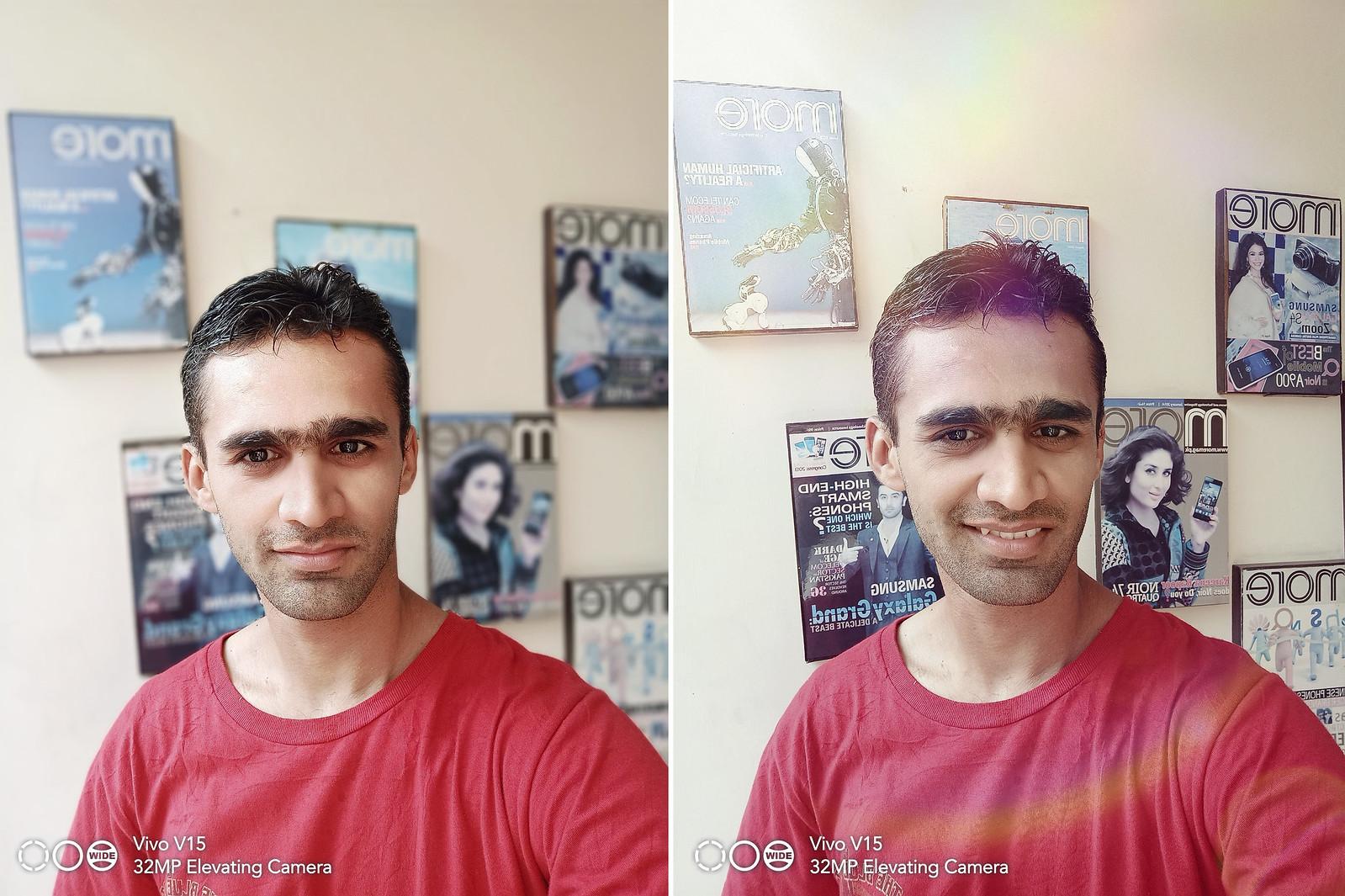 Selfie with Vivo V15