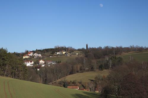 Saxon landscape with moon