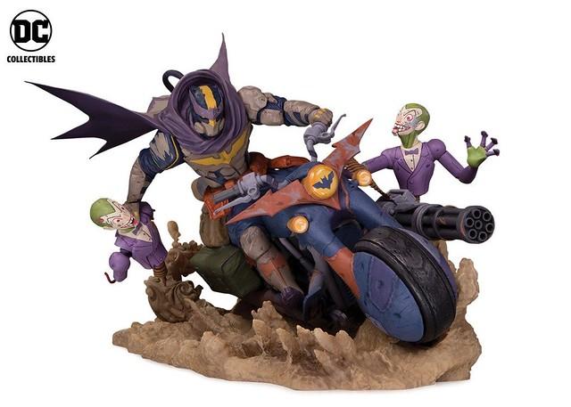 配有重機槍的蝙蝠機車有夠帥! DC Collectibles DC Engines of Chaos 系列【蝙蝠俠】Batman 全身場景雕像作品