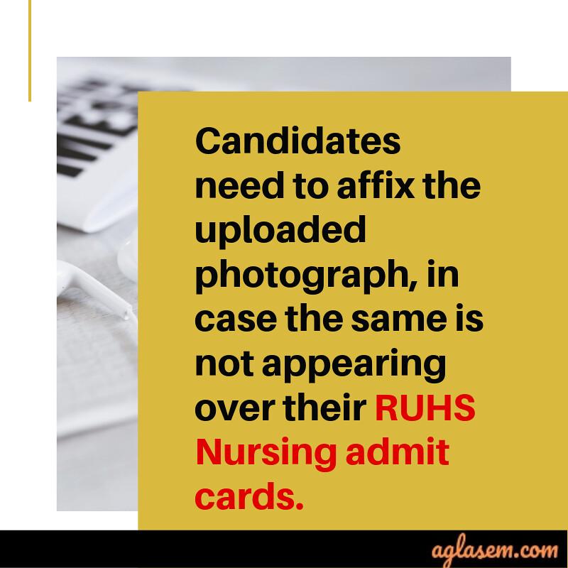 RUHS Nursing admit card