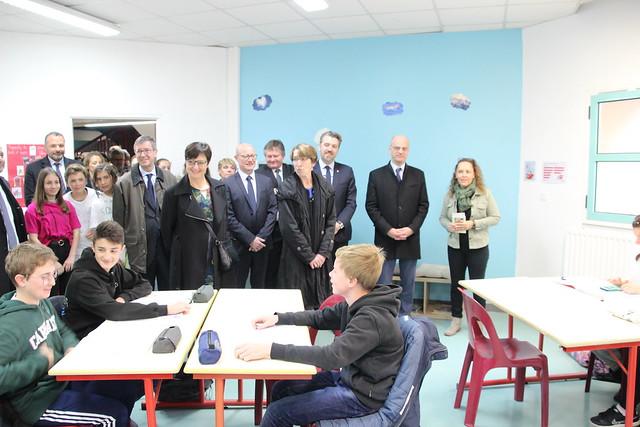 Le ministre de l'Éducation Jean-Michel Blanquer en visite au Collège Aliénor d'Aquitaine de Martignas-sur-Jalle