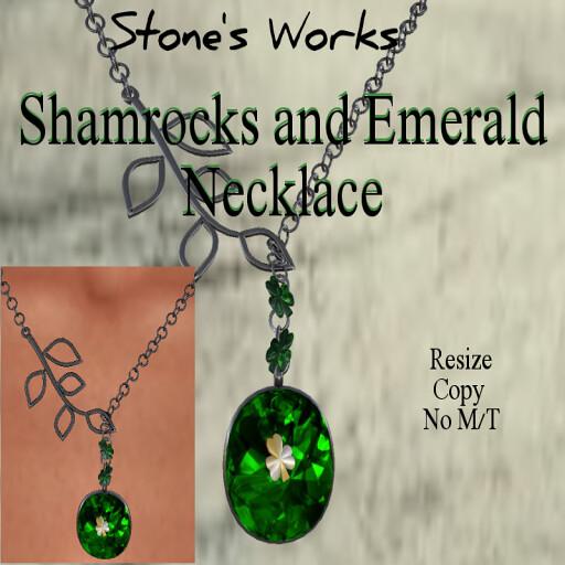 Shamrocks and Emerald Necklace Stone's Works