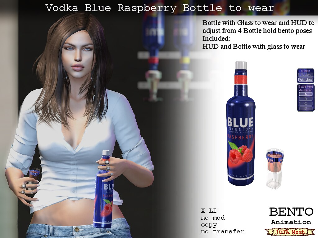 Vodka Blue Raspberry to wear