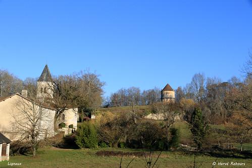 24 Ligueux - Pigeonnier Château XVII