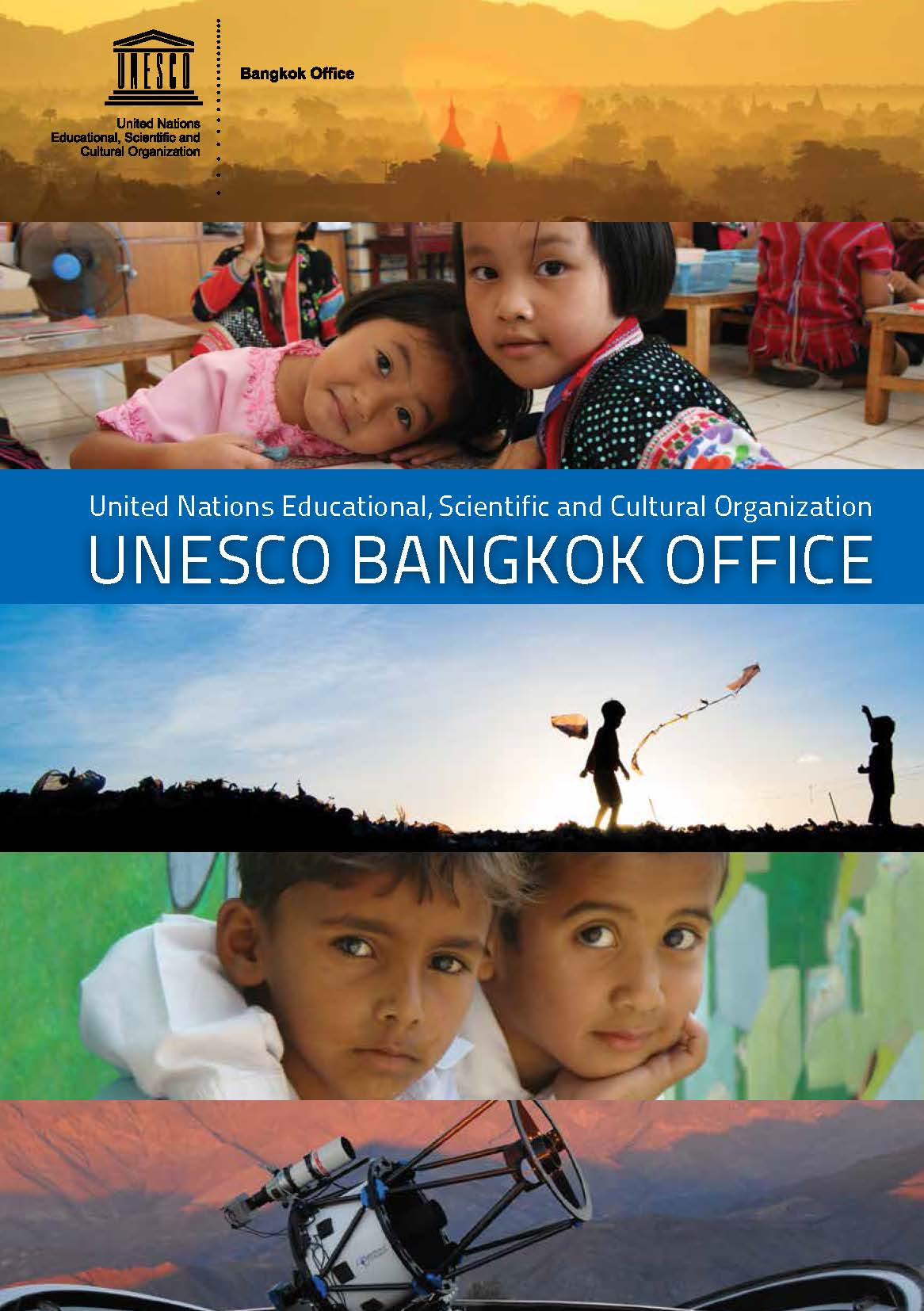 Cover of a brochure about UNESCO's Bangkok office.