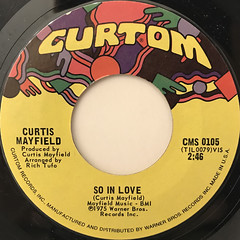 CURTIS MAYFIELD:SO IN LOVE(LABEL SIDE-A)