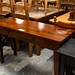 Dark wood stained solid wood table with stain E75