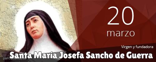 Santa María Josefa Sancho de Guerra