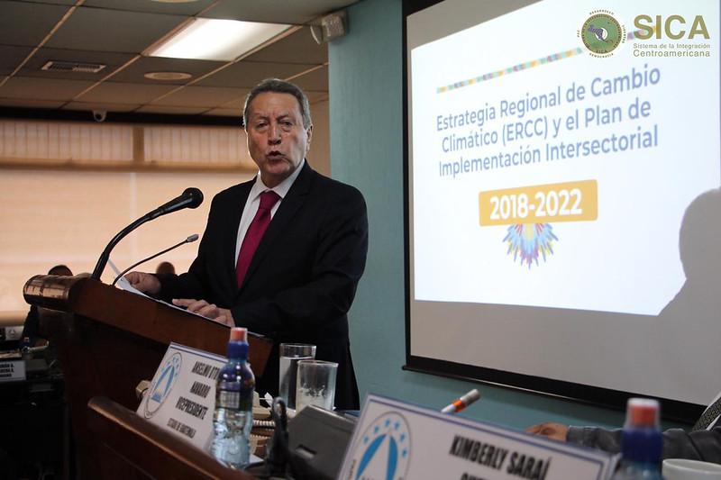 Presentación de informe del Secretario General del SICA, en el PARLACEN