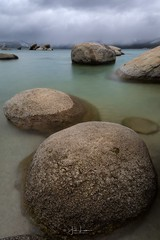 """Image by the_lowe_life (jwlowe) and image name """"Sand Harbor"""" photo  about I had a chance to visit Lake Tahoe recently and I have to say, it was one of the most beautiful lakes I have ever seen! One Thai particular day I was at Sand Harbor just as a line of thunder snow moved thru the area."""