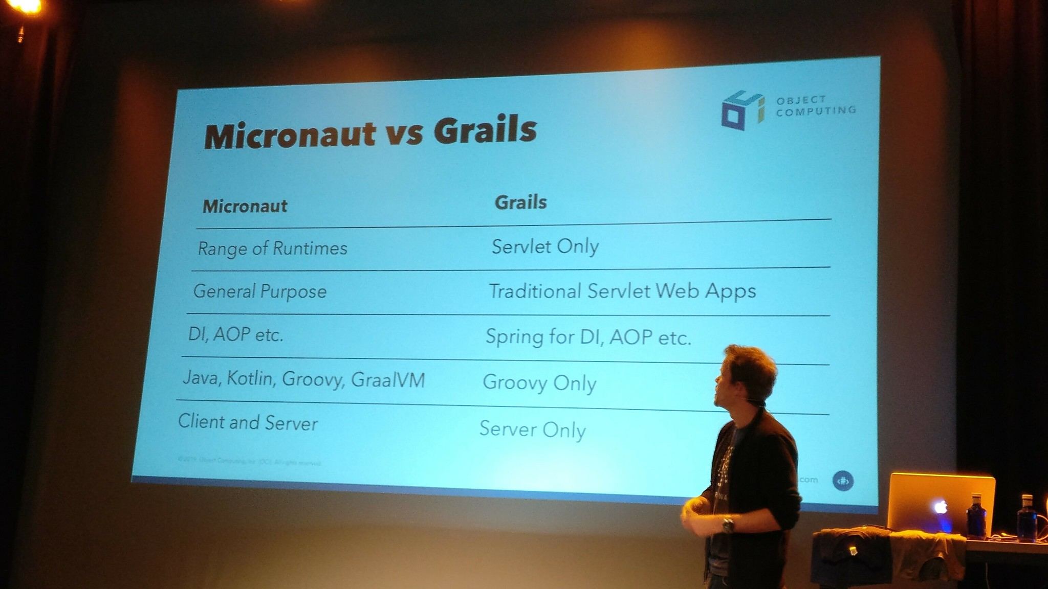 Graeme Rocher explains the differences between Micronaut and Grails