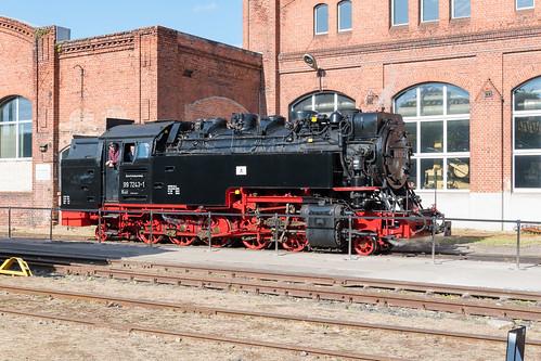 99 7243 im Dampflokwerk Meiningen