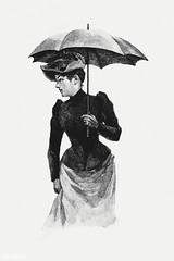 Vintage European women illustration