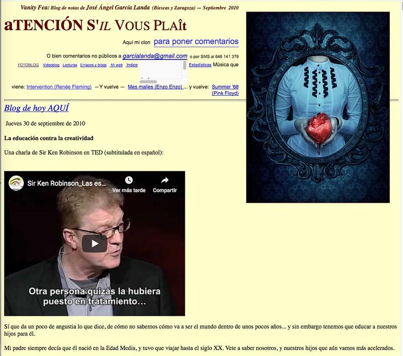 Atención s'il vous plaît: Blog de notas de septiembre de 2010