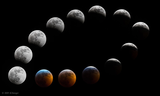 Jan 2019 Lunar Eclipse composite