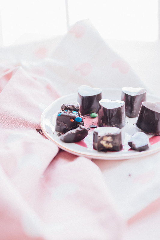 DIY Heart Shaped Ice Cube Tray Chocolates