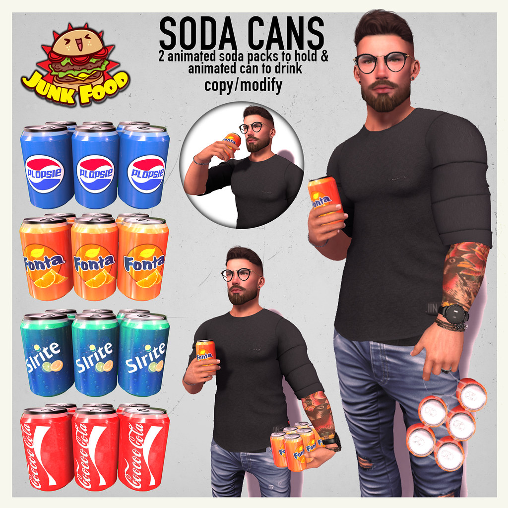 Junk Food - Soda Cans Ad - TeleportHub.com Live!