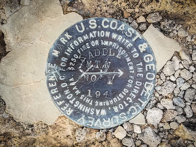 Saddle Mountain Geodetic Marker 1
