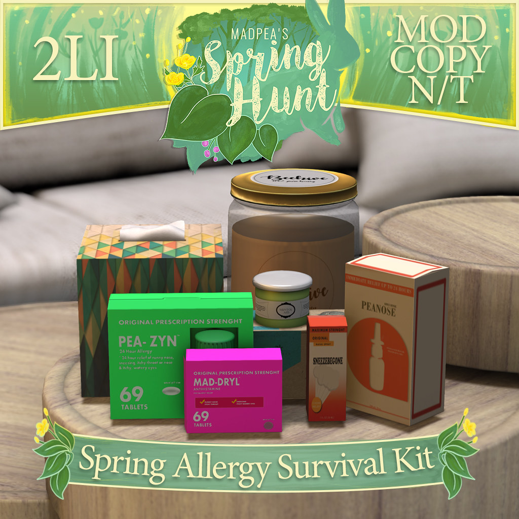 MadPea Spring Hunt – Spring Allergy Survival Kit!