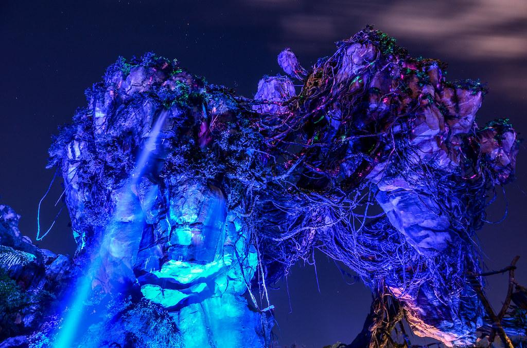 Pandora waterfall AK night
