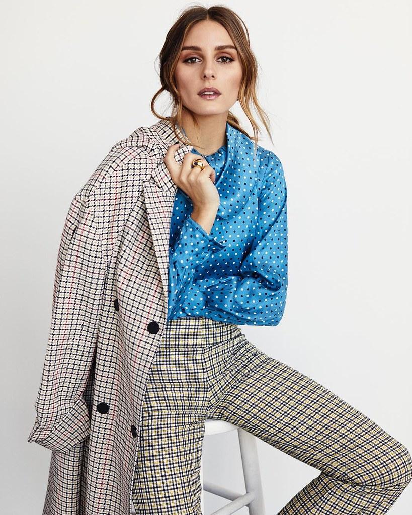 Оливия Палермо в блузе в горошек