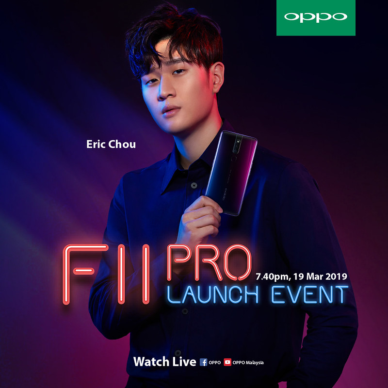 OPPO F11 Pro welcomes Eric Chou as a Portrait Icon