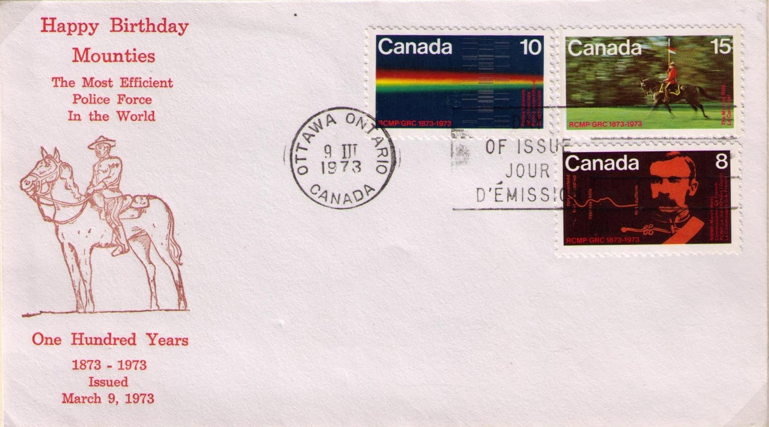 Canada - Scott #612-614 (1973) first day cover