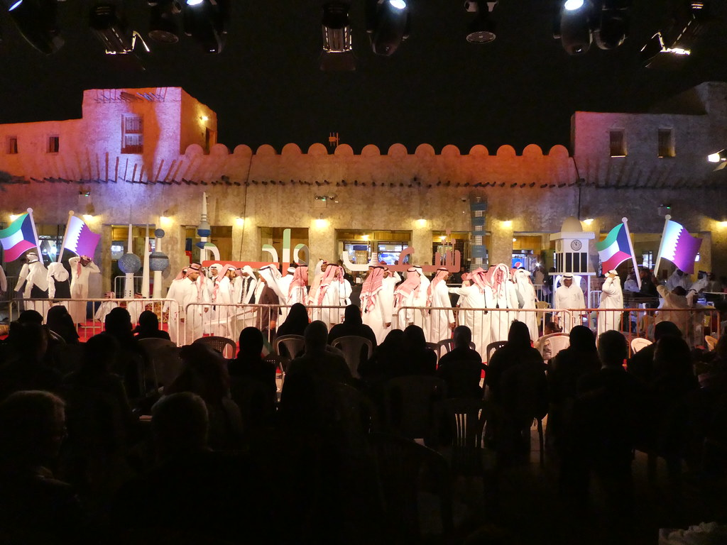 Joint celebrations of Qatar and Kuwait in Doha for Kuwait National Day