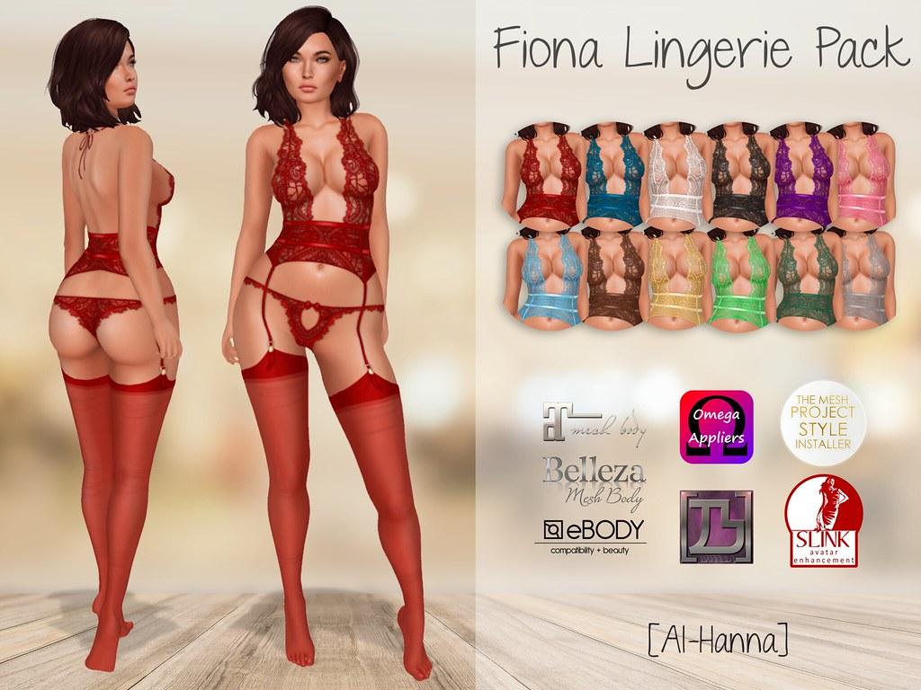[Al-Hanna] Fiona Lingerie Pack - TeleportHub.com Live!