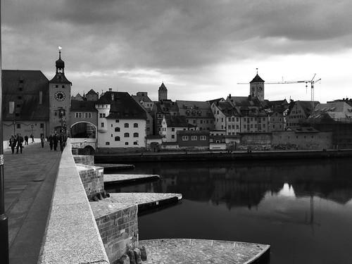 Regensburg - Panorama B&W