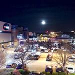 Moon over the car park