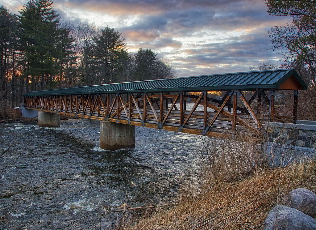 Early Spring River Bridge