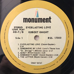 ROBERT KNIGHT:EVERLASTING LOVE(LABEL SIDE-A)