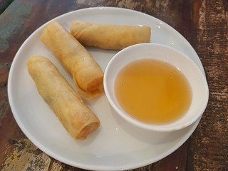 Vegetarian Spring Rolls at Cafe O-Mai