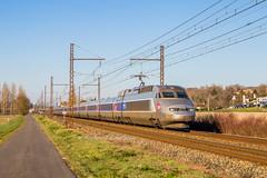 23 février 2019 TGV A 403 Train 8485 Paris-Montparnasse -> Bordeaux-St-Jean Chalais (16) - Photo of Rioux-Martin