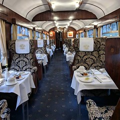 If I'm going to have a carriage to myself, this is not a bad one. Duchess of Sutherland, steam travel.