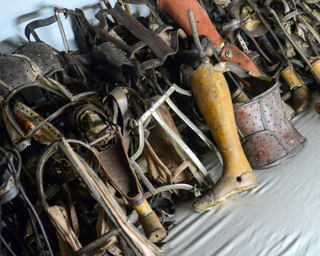 Prótesis de minusválidos del campo de concentración de Auschwitz