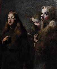 6 - Courbevoie - Musée Roybet Fould - Théodule Ribot, L'esprit et la chère - La Chorale, Vers 1880, Huile sur toile