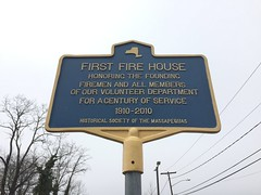 First Fire House Historical Marker