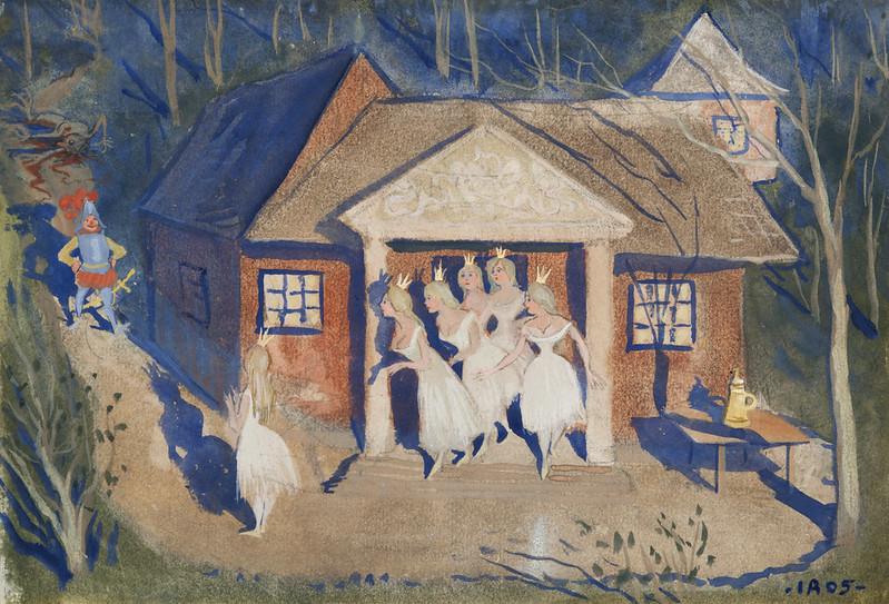 Ivar Arosenius - The story of the six princesses, 1905, illustration 2