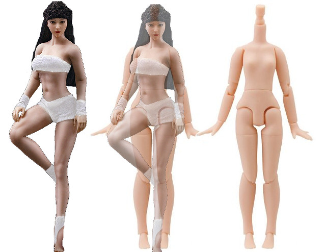 NEW PRODUCT: TBLeague new product: 1 / 12 ratio steel bone plastic female body - T01A (white skin) & T01B (wheat skin) 45884185074_99530a6625_z