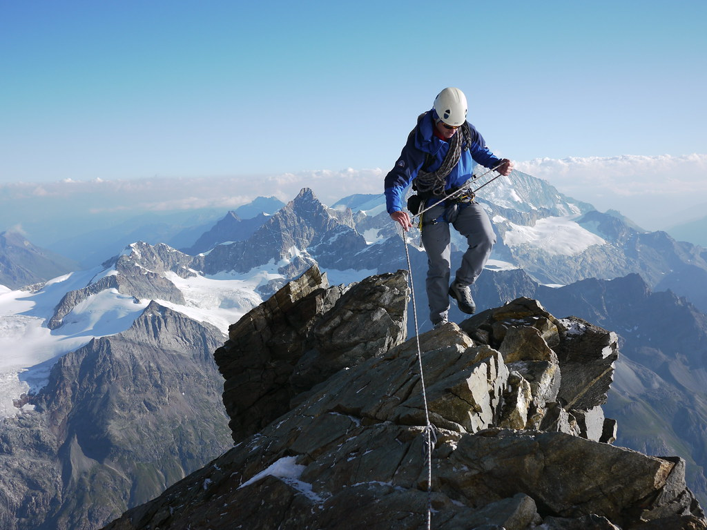 guided alpine rock climbing in the swiss alps