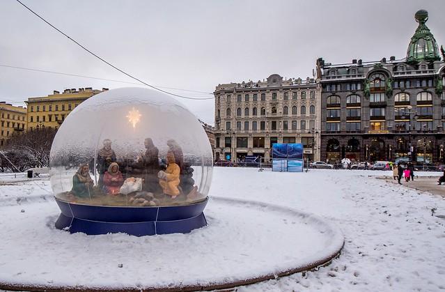 Crèche sous bulle, Saint-Petersbourg