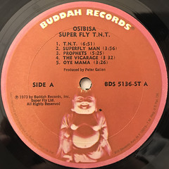 OSIBISA:SUPER FLY T.N.T.(ORIGINAL MOTION PICTURE SOUNDTRACK)(LABEL SIDE-A)