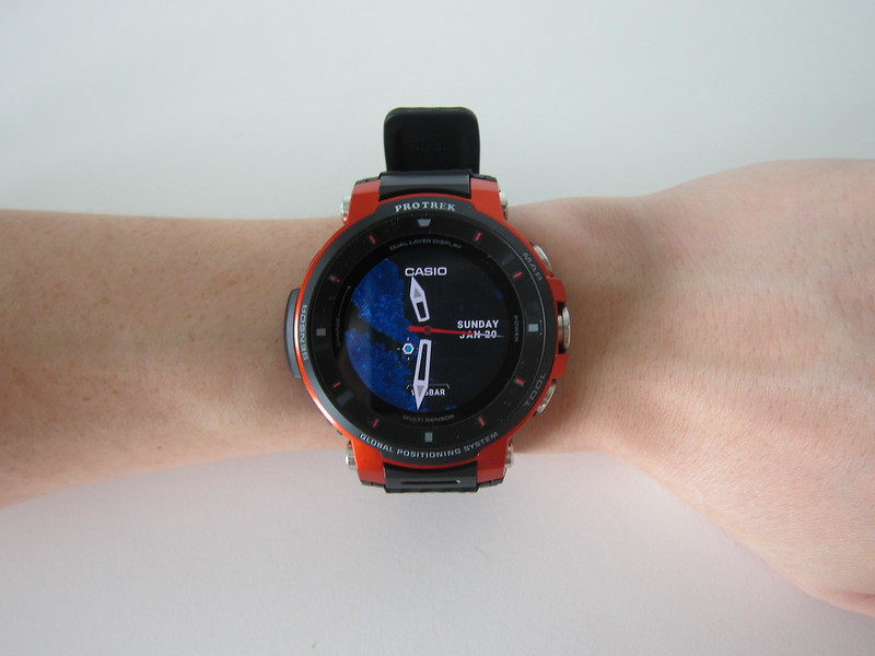 Casio WSD-F30 - On Wrist